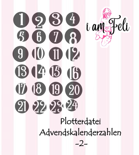 Plotterdatei Adventskalender Zahlen -2- Freebie