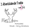 Adventskalender Freebie - Hirsch Merry Christmas